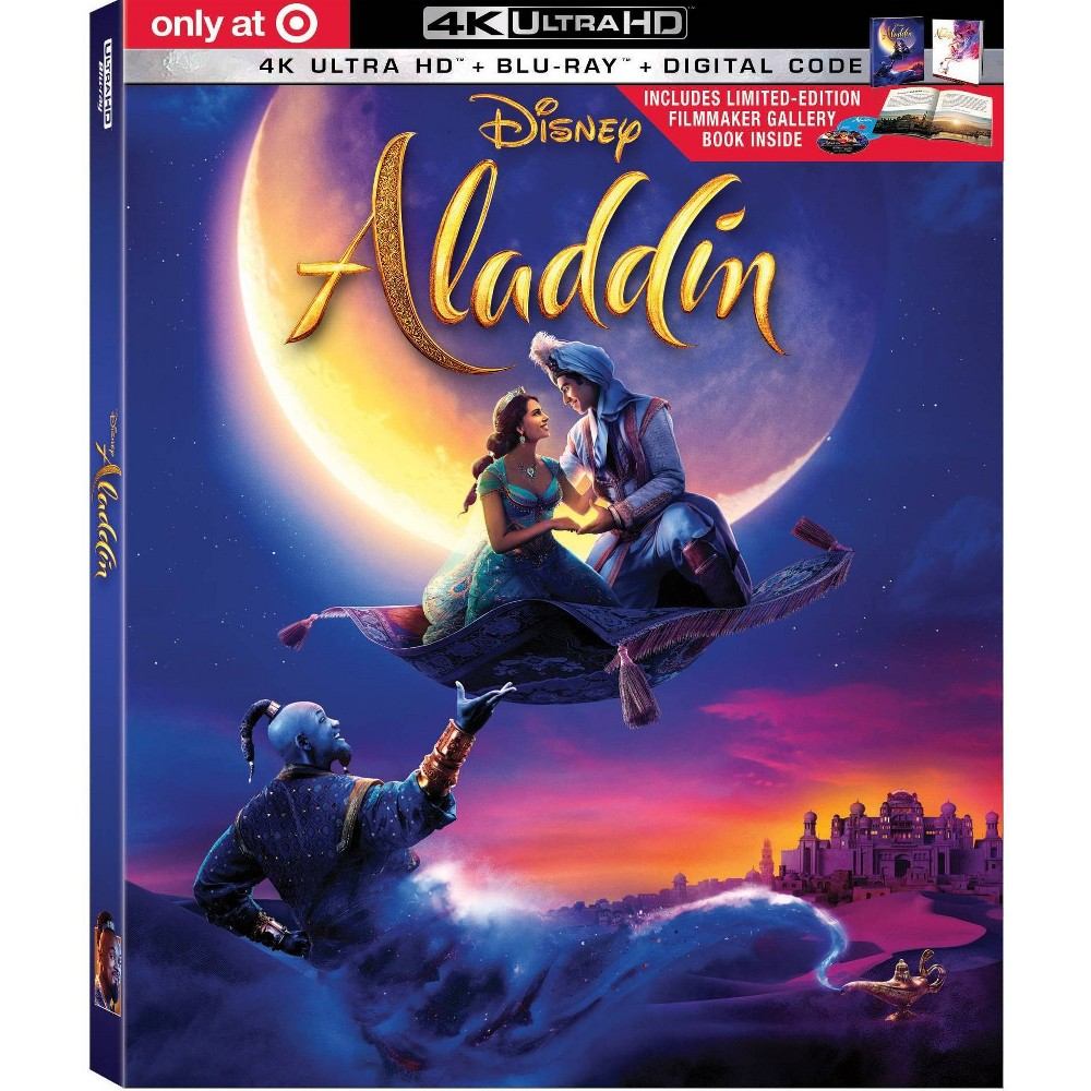 Aladdin (Live Action) (Target Exclusive) (4K/UHD) was $34.99 now $24.49 (30.0% off)