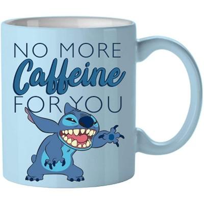 Silver Buffalo Disney Lilo & Stitch No More Caffeine 14oz Ceramic Coffee Mug