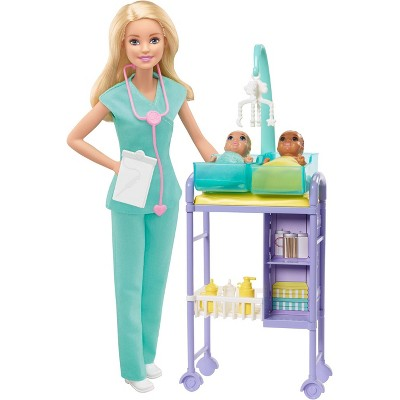 Barbie You Can Be Anything Baby Doctor Blonde Doll and Playset