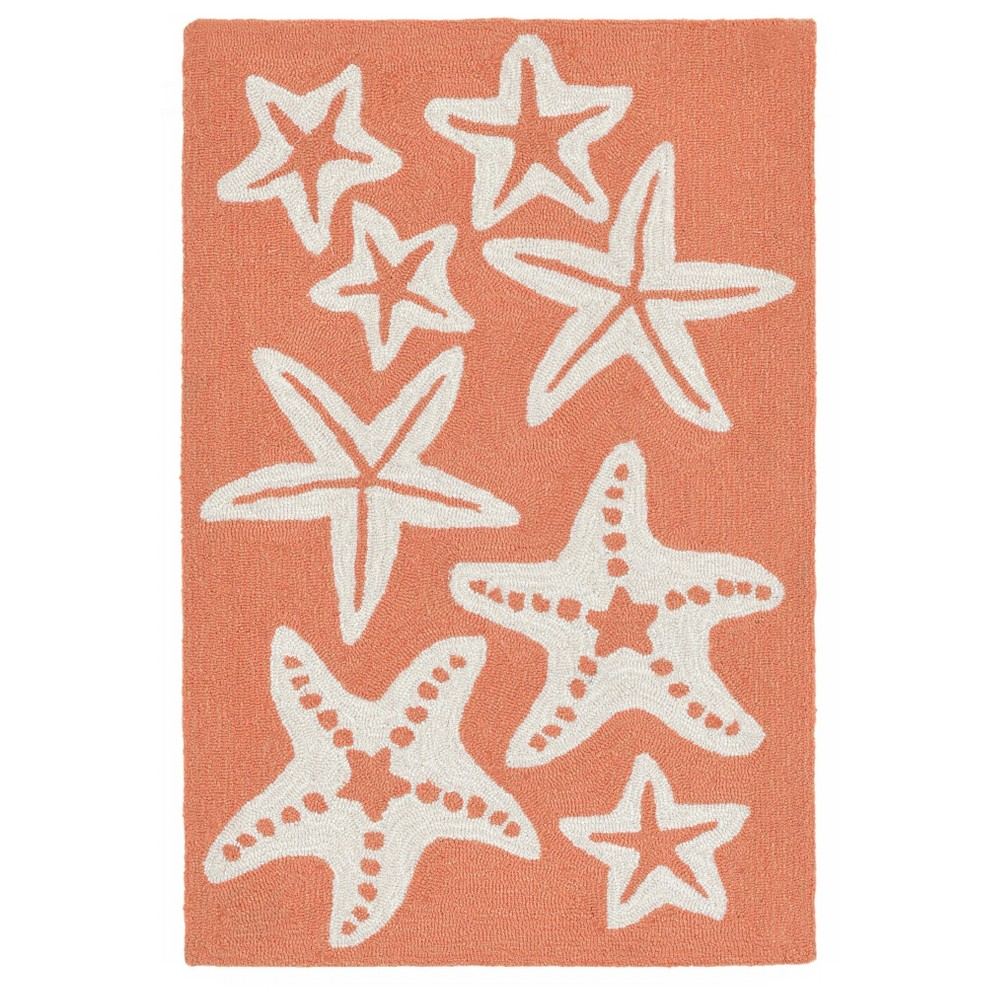 Image of Capri Starfish Rug - Orange - (2'X3') - Liora Manne