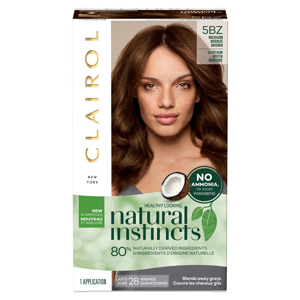 Image of Natural Instincts Clairol Non-Permanent Hair Color - 5BZ Medium Bronze Brown, Hot Cocoa - 1 KIT, 5BZ - Medium Bronze Brown