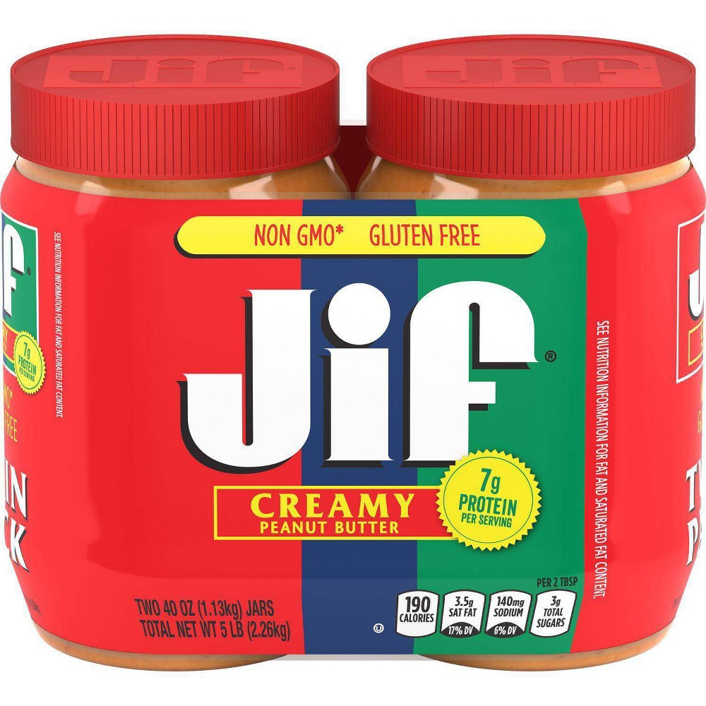 Jif Creamy Peanut Butter Twin Pack 80oz