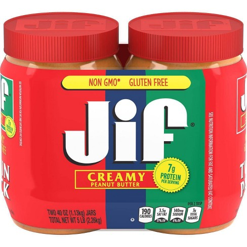 Jif Creamy Peanut Butter Twin Pack - 80oz - image 1 of 4