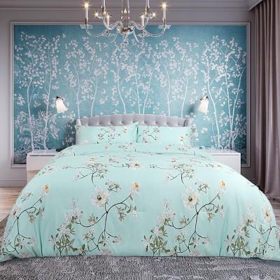 3 Pcs 100% Quality Polyester Flower Pattern Soft Lightweight Comfortable Comforter Bedding Sets - PiccoCasa