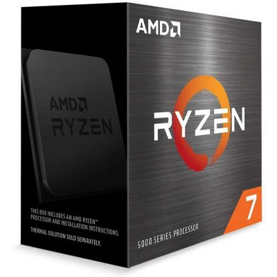 AMD Ryzen 7 5800X 8-core 16-thread Desktop Processor - 8 cores & 16 threads - 3.8 GHz- 4.7 GHz CPU Speed - 36MB Total Cache - PCIe 4.0 Ready