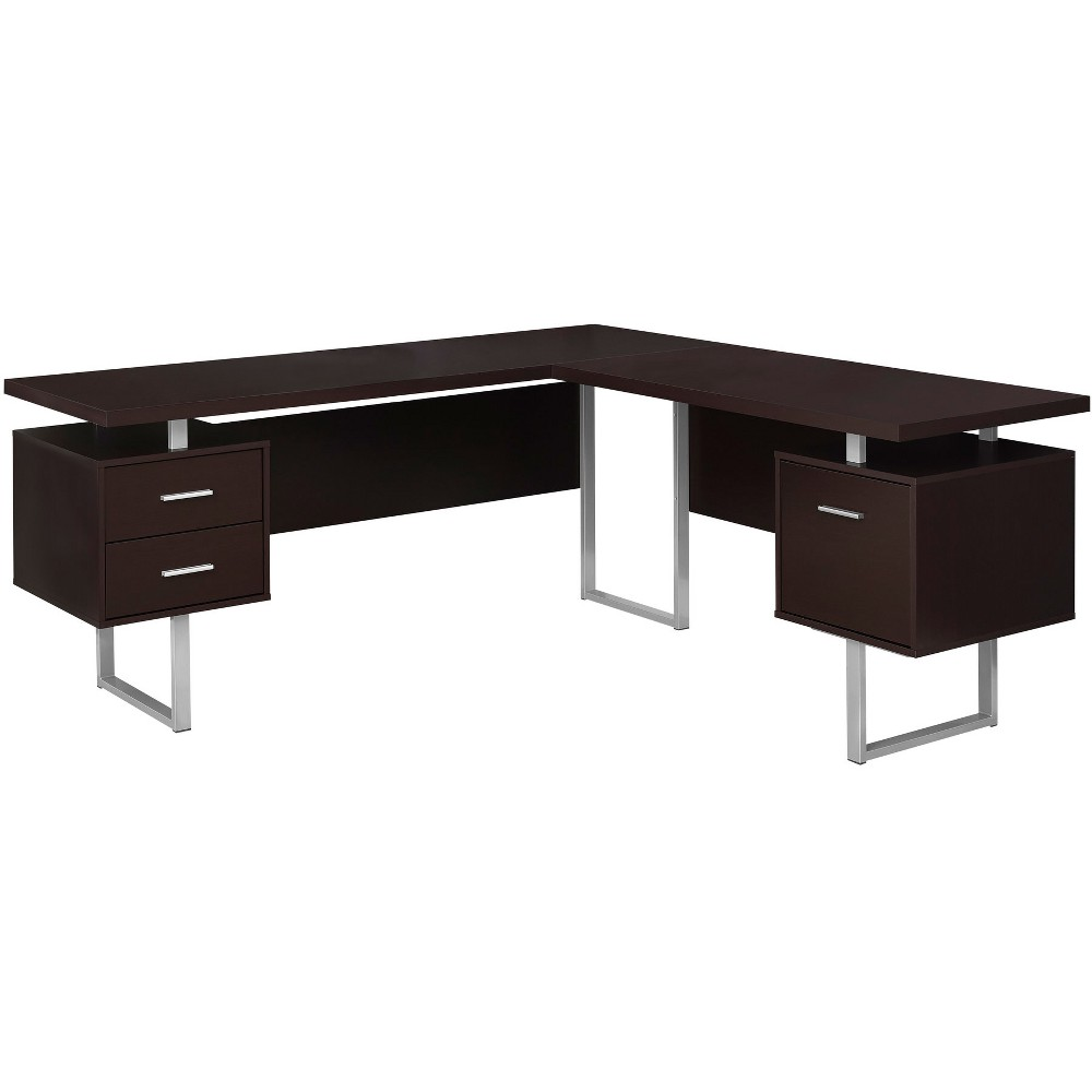 """Image of """"70"""""""" Computer Desk Left Or Right Facing Cappuccino - EveryRoom"""""""