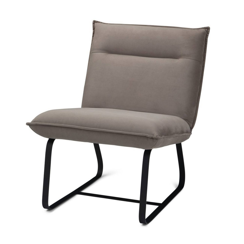 """Image of """"26"""""""" Jema Metal Frame Accent Chair Camel - Wyndenhall"""""""