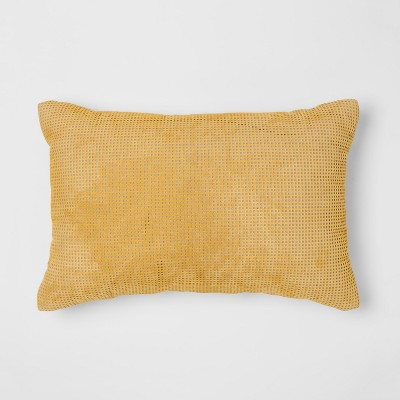 Citron Perforated Leather Lumbar Pillow - Project 62™ + Nate Berkus™