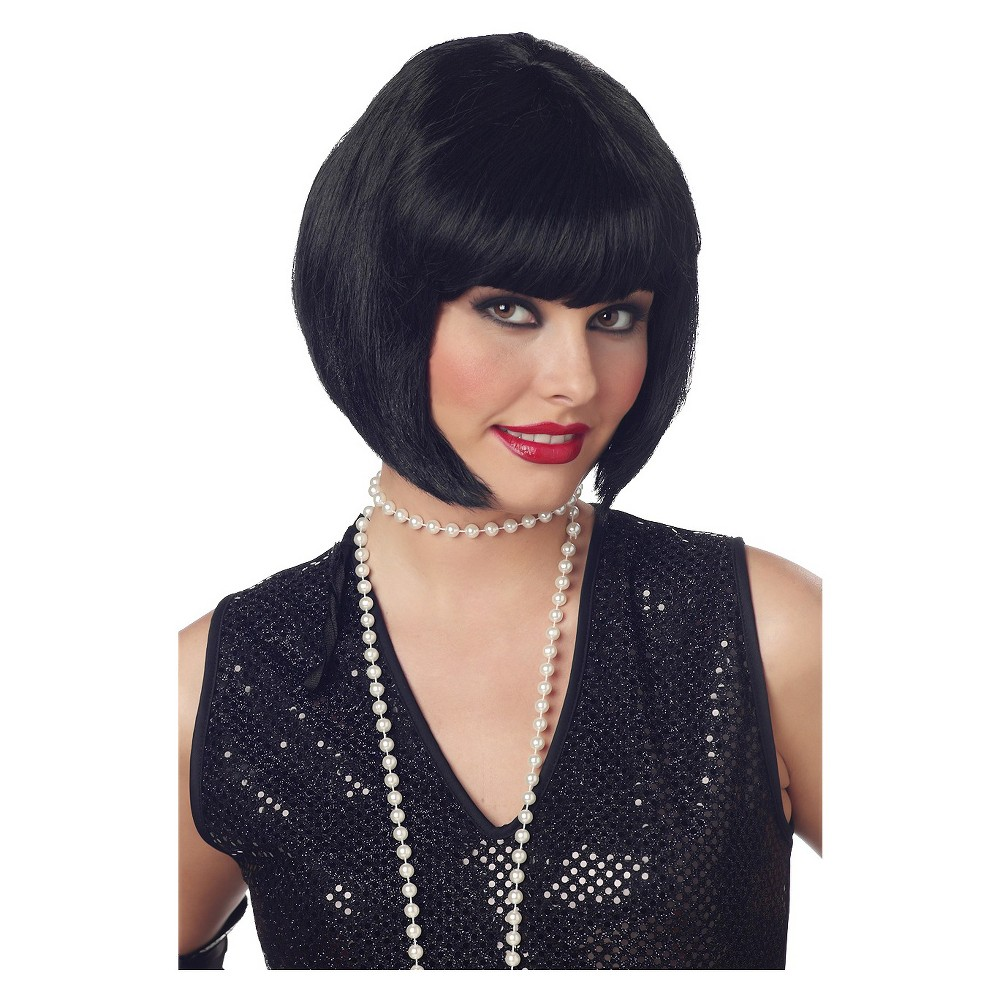 Flapper Black Costume Wig Black - One Size Fits Most, Women's