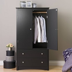 Clothing Armoire Black - Prepac
