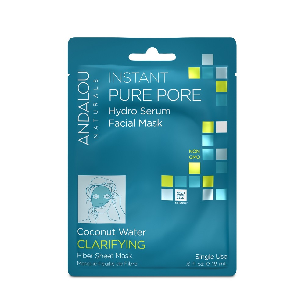 Image of Andalou Naturals Clear Skin Hydro Serum Face Mask - Coconut Water - 0.6 oz