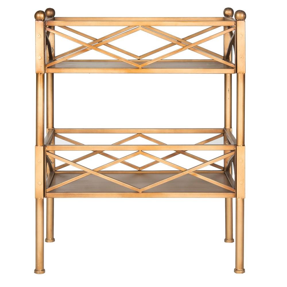 31 Decorative Bookshelf Gold - Safavieh