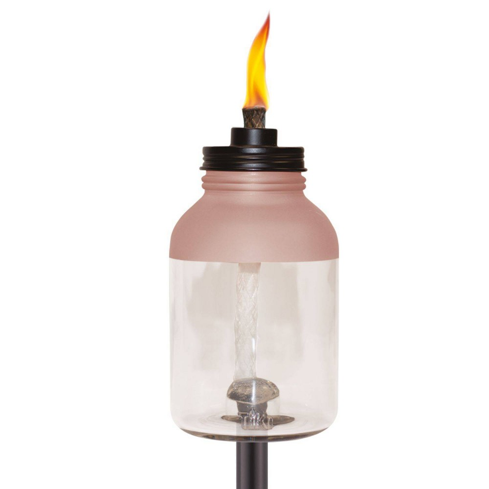 Frosted Glass Jar Stepnstall Outdoor Torch Tiki