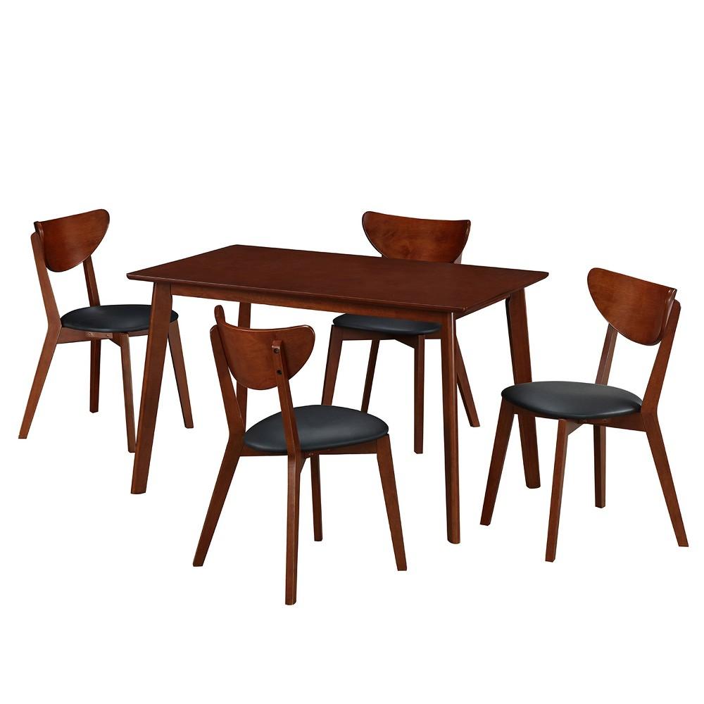 Techni Mobili Dining Table Set Toasted Walnut