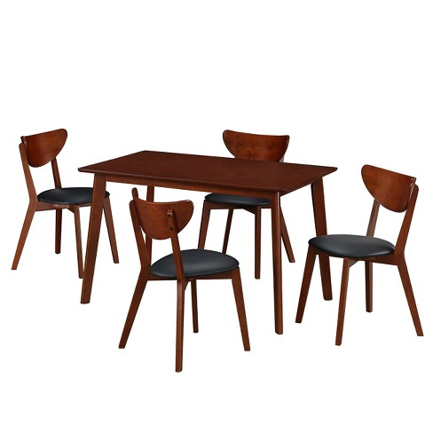 Techni Mobili Dining Table Set Toasted Walnut - image 1 of 11