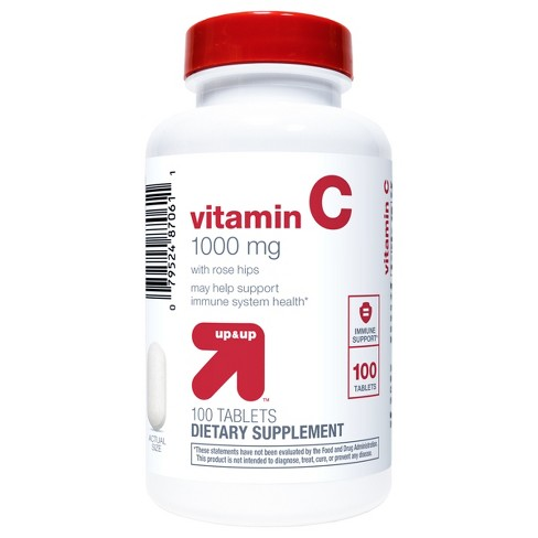 Vitamin C 1000mg with Rose Hips Tablets - Up&Up™  - image 1 of 3