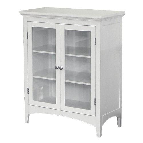 Madison Avenue 2-Door Floor Cabinet White - Elegant Home Fashions