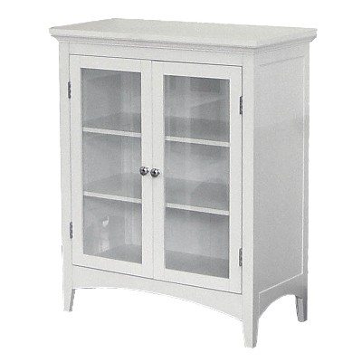 Madison Avenue 2 Door Floor Cabinet White   Elegant Home Fashions