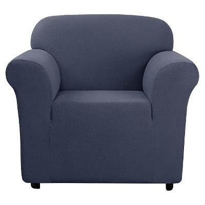 Stretch Leaf Chair Slipcover Storm Blue - Sure Fit