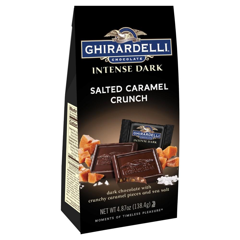 Ghirardelli Intense Dark Salted Caramel Crunch Chocolate - 4.87oz