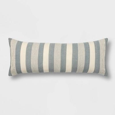 Oblong Woven Stripe Throw Pillow - Threshold™