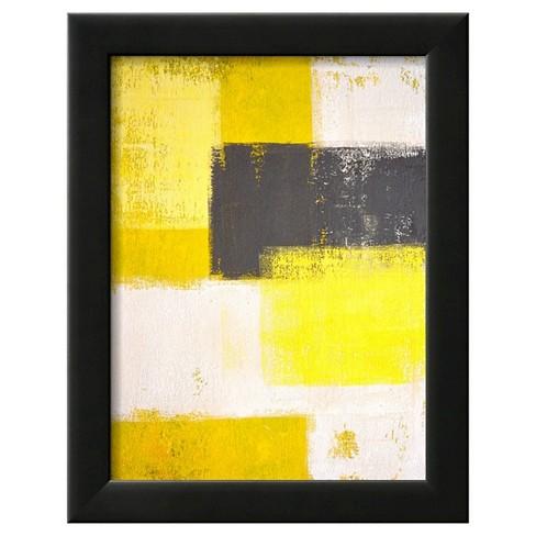 Art Gray And Yellow Abstract P