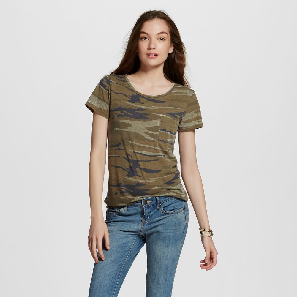 Women's Graphic T-Shirt Green Xxl - Lol Vintage (Juniors'), Camouflage Green