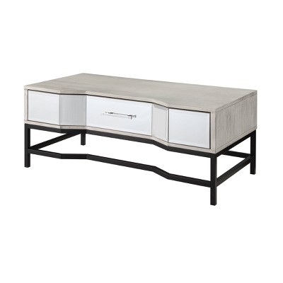 Gabby Chic 1 Drawer Cocktail Table White - Treasure Trove Accents