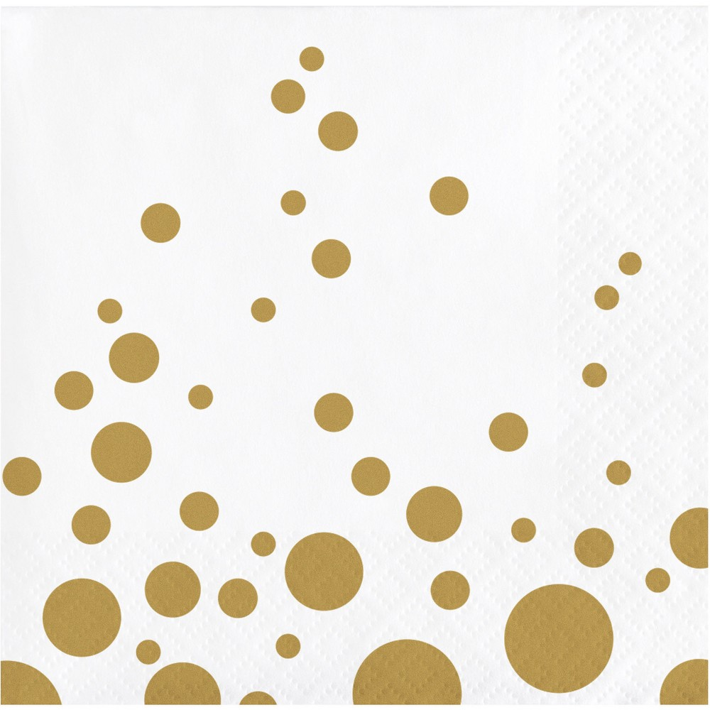 Image of Sparkle and Shine Gold Cocktail Beverage Napkins, 16 pk