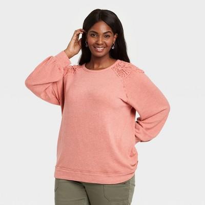 Women's Lace Detail Sweatshirt - Knox Rose™