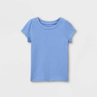 Toddler Girls' Solid Short Sleeve T-Shirt - Cat & Jack™ Blue 4T