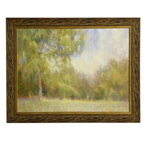 """47.2"""" Traditional Landscape Gel Coated Tree Print Framed Wall Art Brown - StyleCraft - image 1 of 1"""