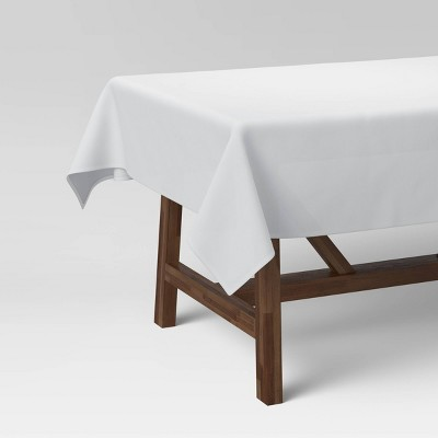 """120"""" x 60"""" Cotton Solid Tablecloth White - Threshold™"""