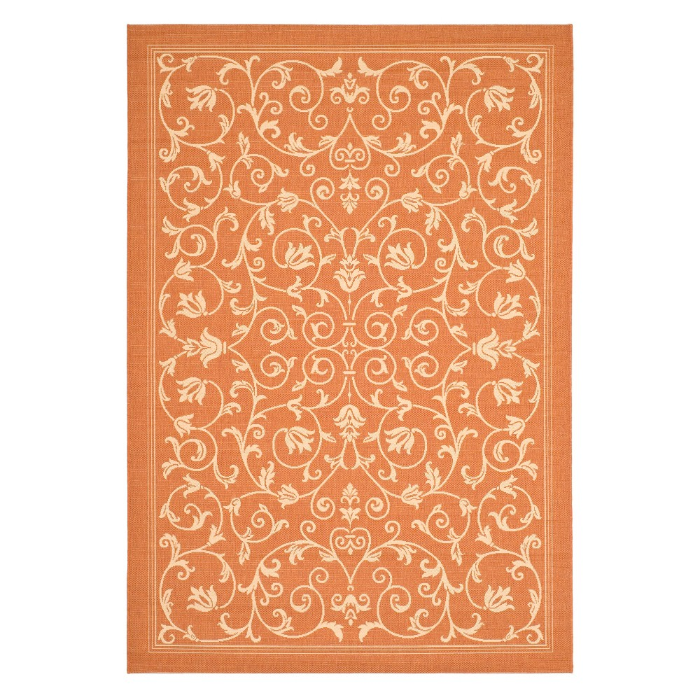 Vaucluse Rectangle 5'3 X 7'7 Outdoor Rug - Terracotta / Natural - Safavieh, Terracotta/Natural