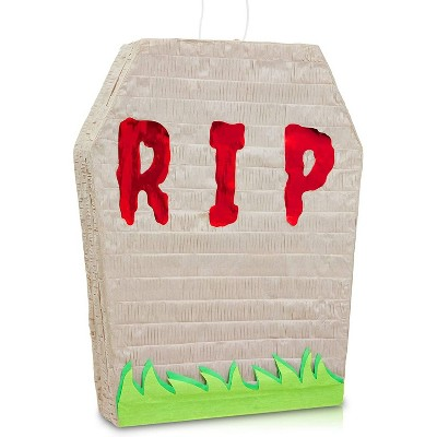 Spooky Central Small Tombstone Graveyard Pinata for Halloween Party (16.5 x 13 x 3 In)
