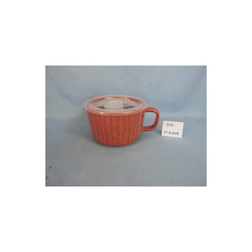 Image of 17.6oz Stoneware Soup Mug Coral - Threshold