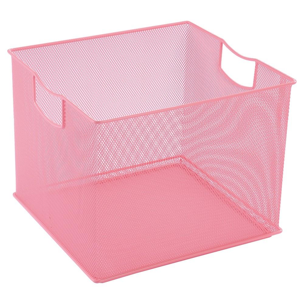 "Image of ""8"""" X 11"""" X 10"""" Wire Decorative Toy Storage Bin Pink - Pillowfort"""