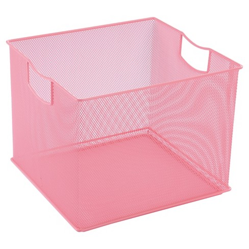 "8""x11""x10"" Square Wire Decorative Bin Pink - Pillowfort™ - image 1 of 1"