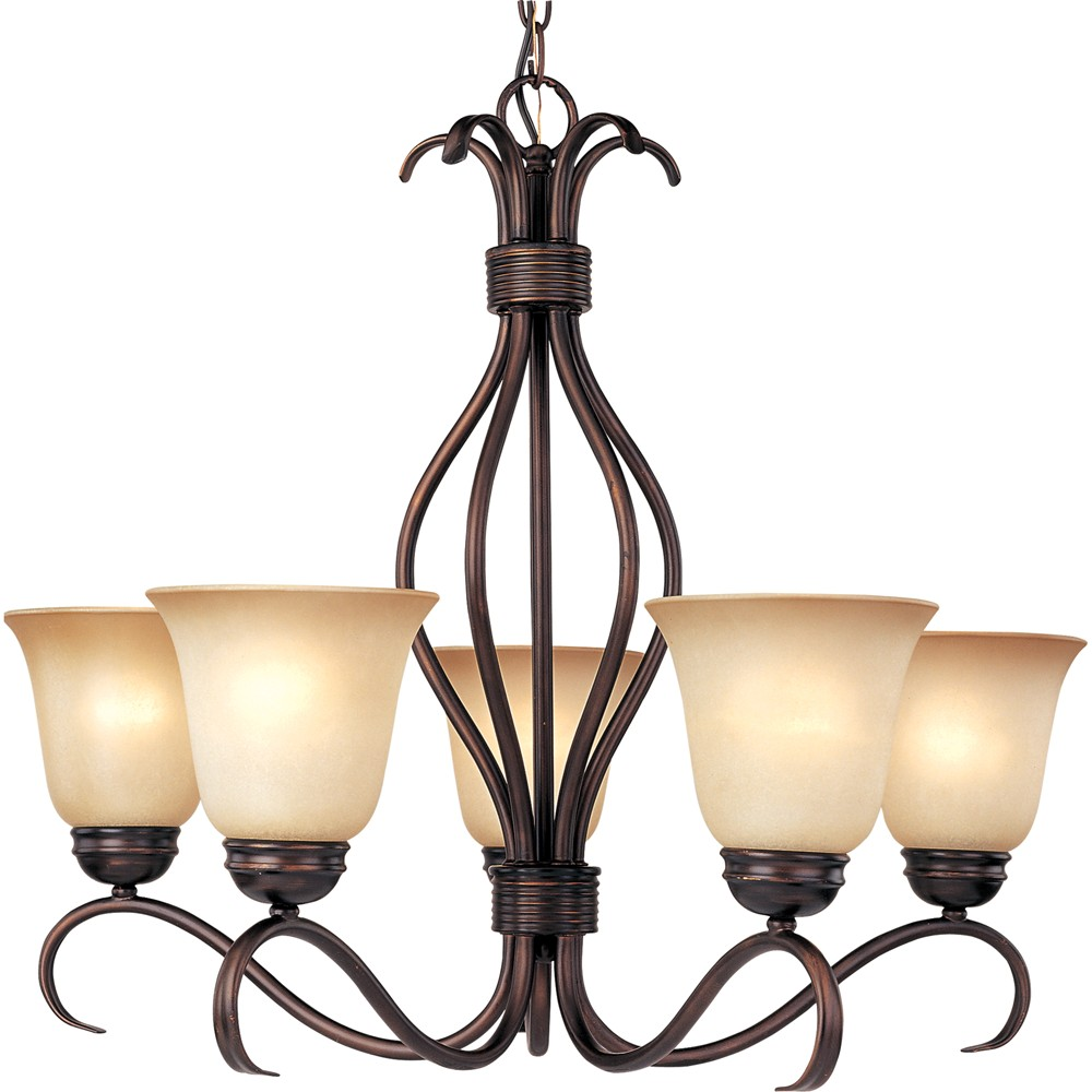 Image of Basix 5 Light Chandelier, Brown