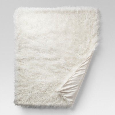 Cream Mongolian Faux Fur Throw Blankets (50 x60 )- Project 62™