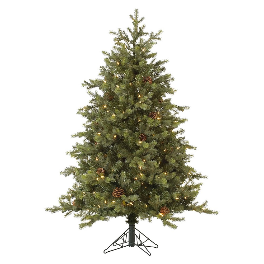 Best 12ft Rocky Mountain Fir Led Pre Lit Instant Artificial Christmas Tree Full Multicolor Lights