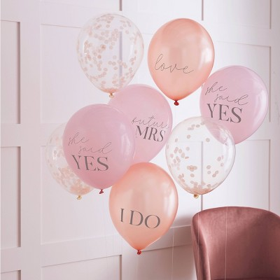 Mixed Pack Of Bachelorette Party Banner & Confetti Balloons