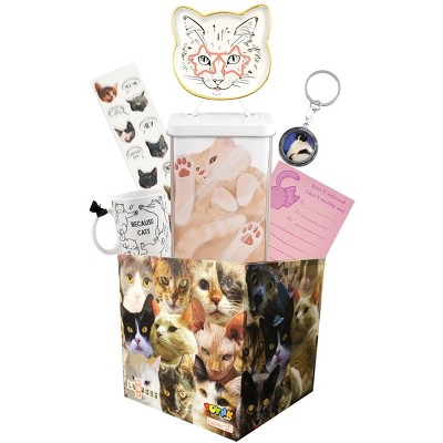Toynk All About Cat's Themed LookSee Mystery Gift Box with 6 Cat Themed Items