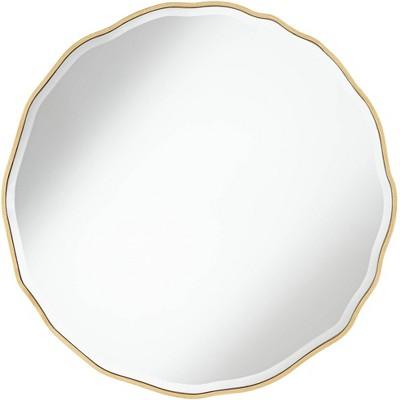 "Noble Park Lissa Gold Waved Edge 31 1/2"" x 31 1/2"" Wall Mirror"