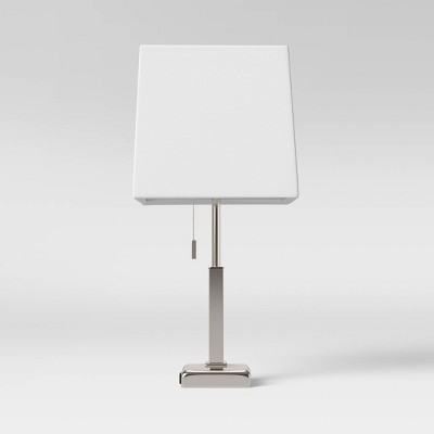 Square Stick with Outlet Table Lamps Nickel - Threshold™