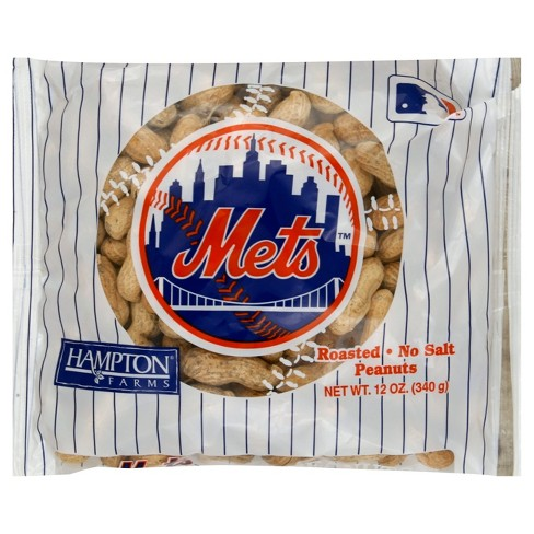 Hampton Farms New York Mets Unsalted In-Shell Roasted Peanuts - 12oz - image 1 of 1