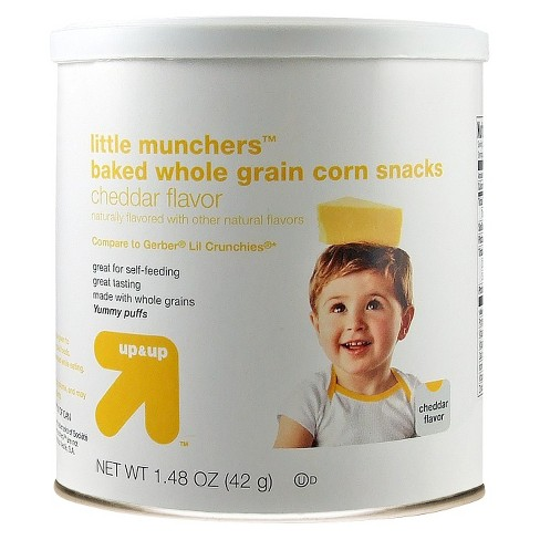 Little Munchers Baked Whole Grain Corn Snack, Cheddar Flavor - 1.48oz - Up&Up™ - image 1 of 1