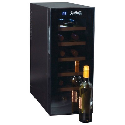 Koolatron 12-Bottle Deluxe Wine Cooler - Black