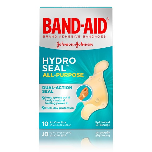 Band-Aid Brand Hydro Seal All Purpose Adhesive Bandages - 10ct - image 1 of 8