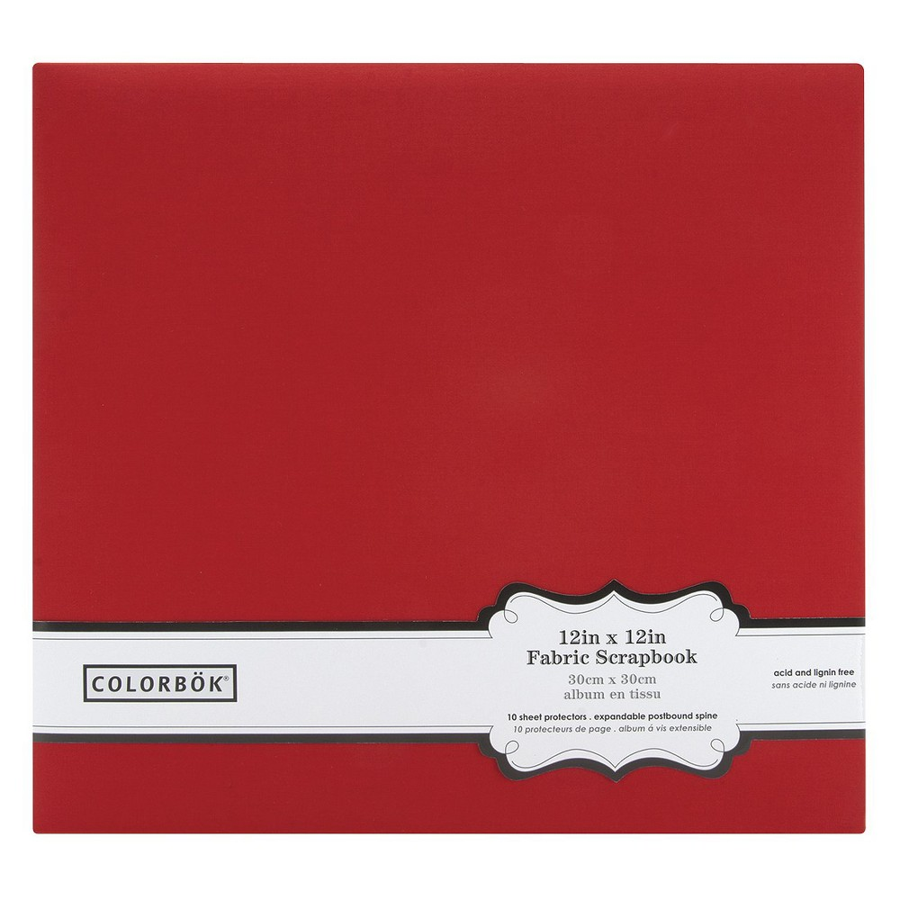 Image of Colorbok Fabric Album - Red (12x12)